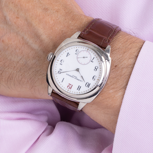 Laurent Ferrier Galet Square in White Gold and White Porcelain Dial