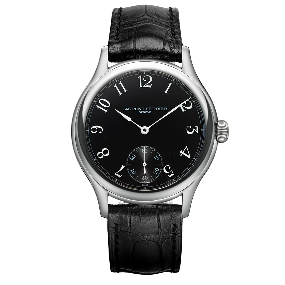 Laurent Ferrier Galet Micro-Rotor in Stainless Steel and Black Dial
