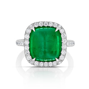 Colombian Emerald Halo Ring