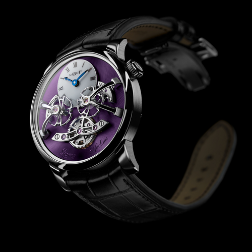 MB&F Legacy Machine 2 in White Gold and Purple