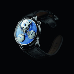 MB&F LM Split Escapement in White Gold and Blue Frost