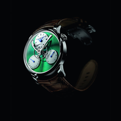 MB&F Legacy Machine Split Escapement in Titanium and Green