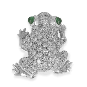 Diamond Frog Pin