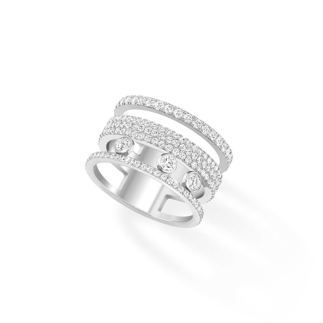Messika Move Romane Large Pavé Diamond Ring