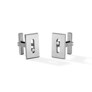 Messika Move Titanium Cufflinks