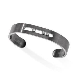 Messika Move Graphite Titanium Diamond Bracelet