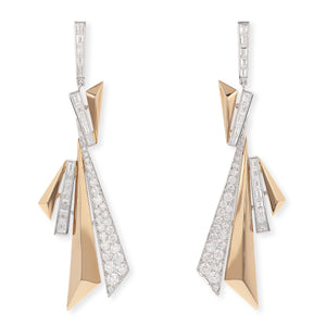 Geometric Diamond Earrings