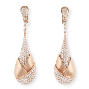 Rose Gold and Diamond Earrings