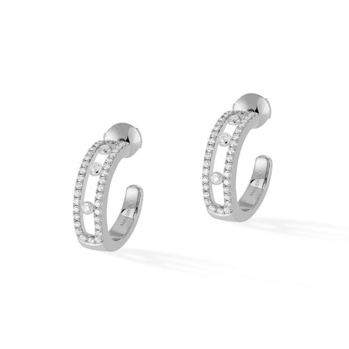 Messika Move Pavé Diamond Hoop Earrings