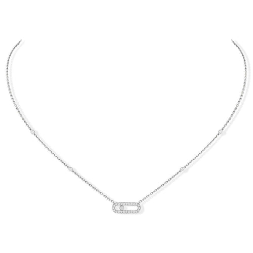 Messika Move Uno Pavé Diamond Necklace