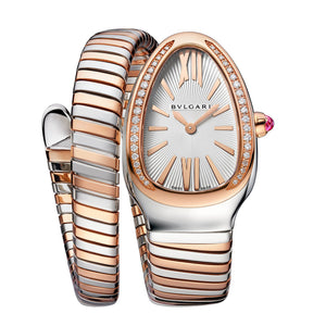 Bulgari Serpenti Tubogas Steel and 18kt Rose Gold