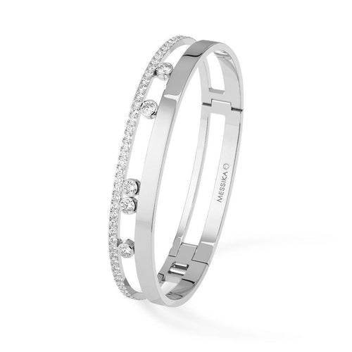 Messika Move Romane Large Diamond Bangle Bracelet