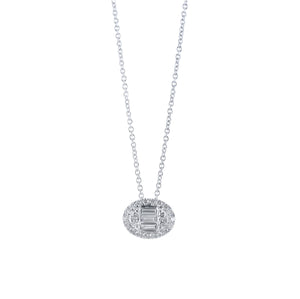 Diamond Pendant with Chain