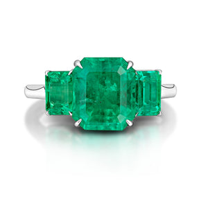 Three Stone Emerald Ring