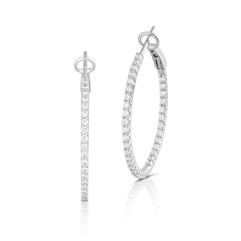 Diamond Inside Out Hoops