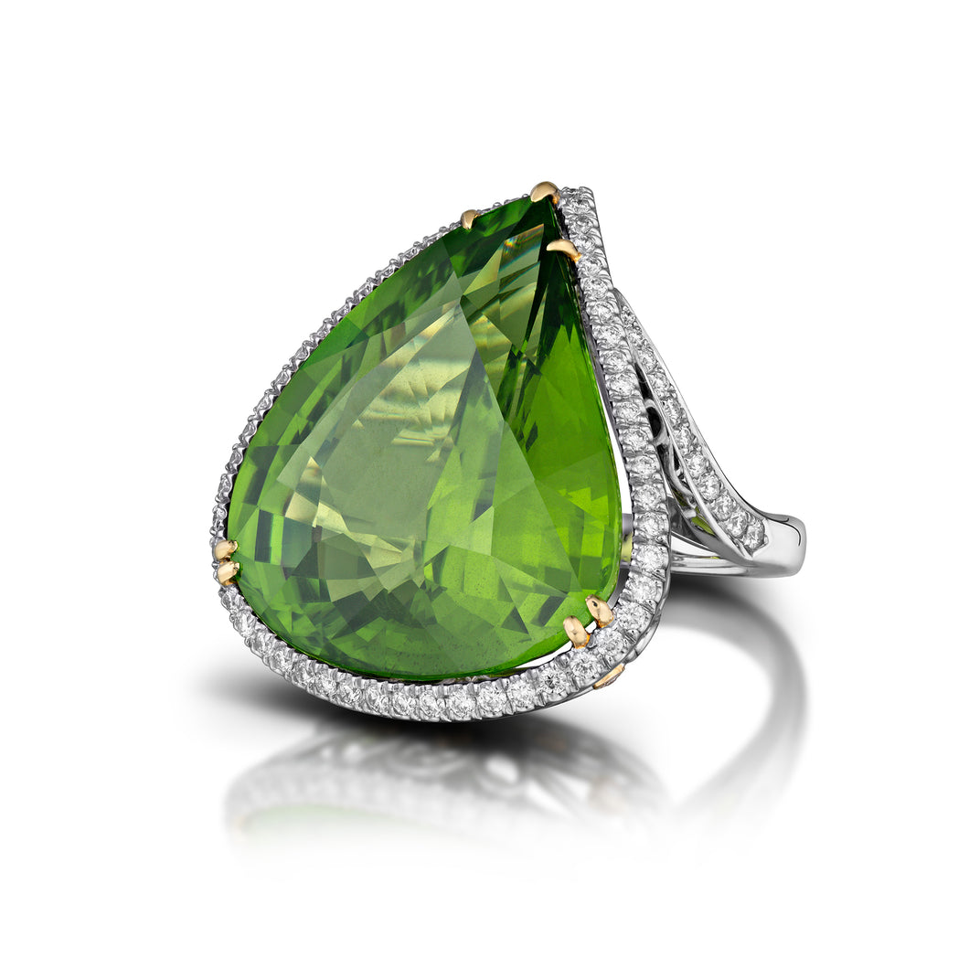 Pear Shaped Peridot Ring