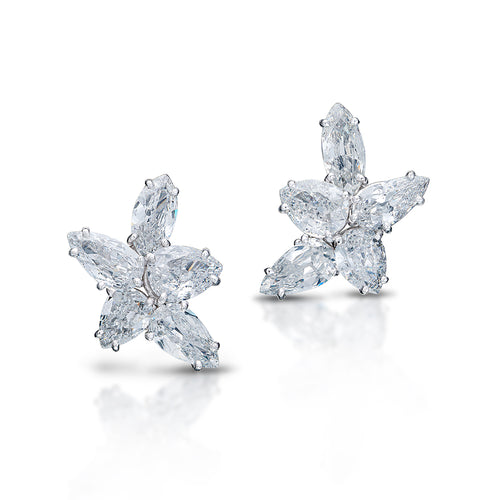 Pear and Marquise Diamond Earrings
