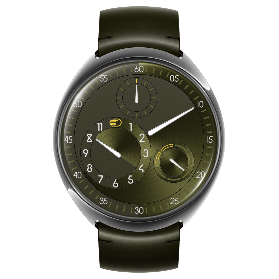 Ressence Type 1 slimX Green in Titanium