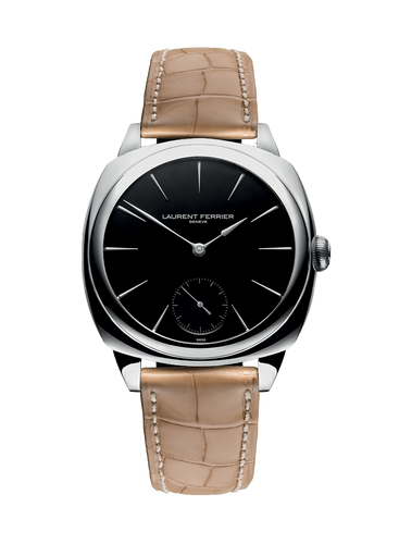 Laurent Ferrier Galet Square Micro-Rotor in Stainless Steel with Black Dial