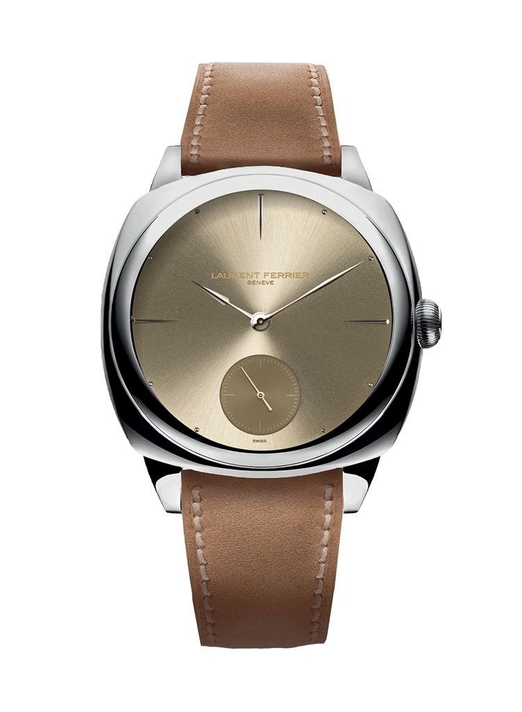 Laurent Ferrier Galet Square Micro-Rotor in Stainless Steel with Gold Dial