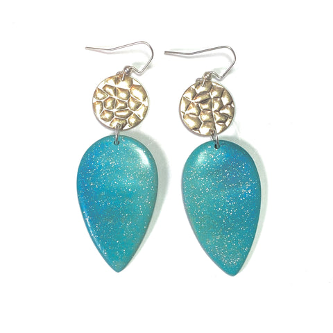 Shimmer and Shine - Turquoise Petal Earrings