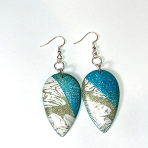 Embrace II - Turquoise and Gold Earrings