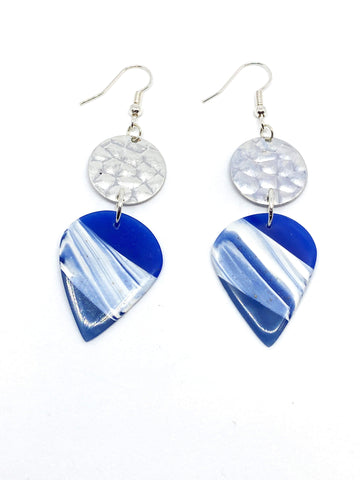 Blissful - Blue Petal Earrings