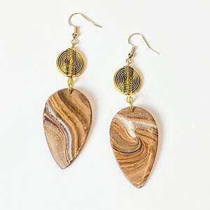 Mahogany Gold- Wood Inspired Earrings