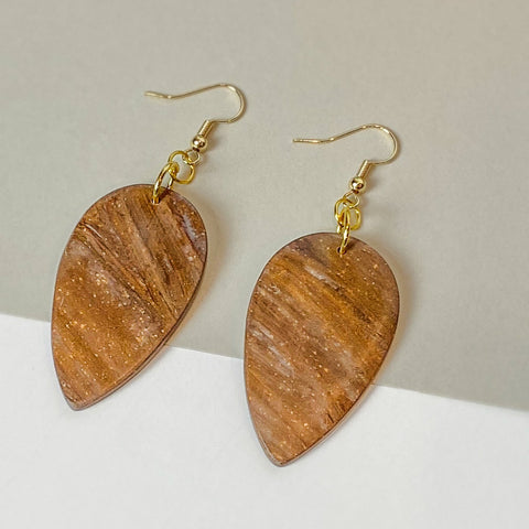 Mahogany - Natural Wood Inspired Earrings