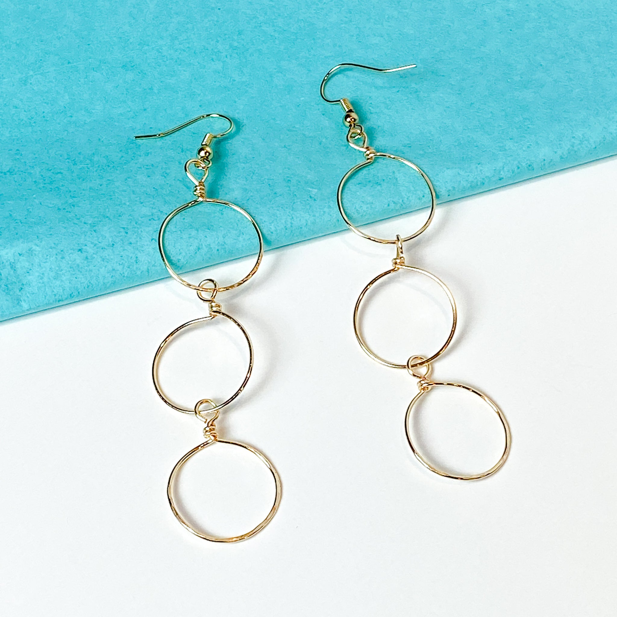 Tre - Gold 3 Hoop Earrings