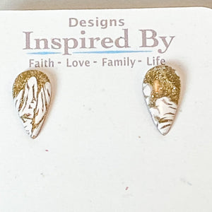 Golden Lace Stud Earrings