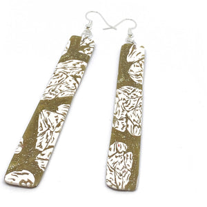 Golden Lace - Long Drop Earrings