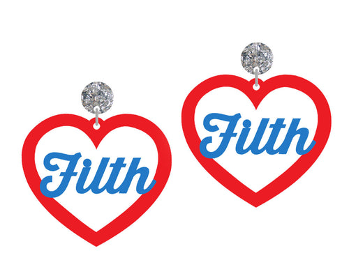 John Waters FILTH Earrings SALE