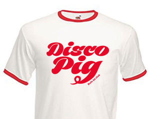 Disco Pig Red Retro Shirt (Unisex)