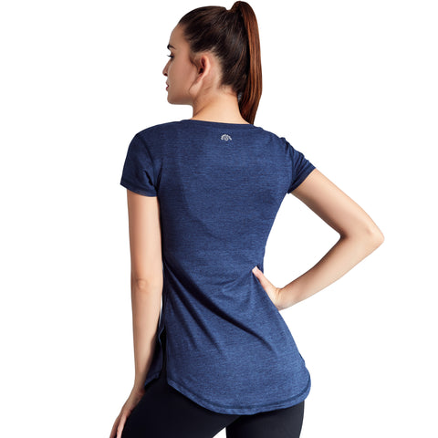 Fitness Yoga T-shirt Women Quick Dry Sports T Shirt Running Tee Shirt Elastic Gym  Tshirt Yoga Tops