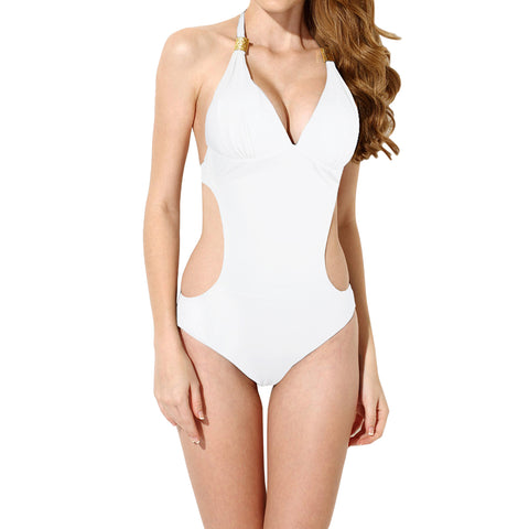 Sidiou Group Women's Fashion Deep V One Piece Swimsuits Bikini Swimwear Beach Swimming Suits