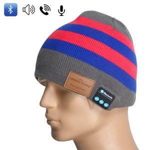 Sidiou Group Latest wireless Bluetooth hat warm hat for winter Music Hat knitted striped hat