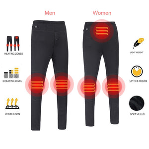 Light Insulated Heated Pant USB Smart Thermostat Carbon Fiber Electric Slim Pants for Outdoor Travel