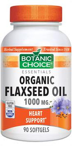 Organic Flaxseed Oil Softgels (1000mg)