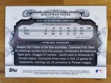 Load image into Gallery viewer, 5x7 - Jonathan India - 2019 Bowman Draft Sterling Continuity Oversized 27/49 - Reds