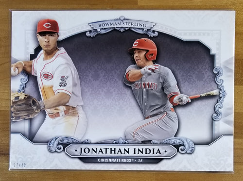 5x7 - Jonathan India - 2019 Bowman Draft Sterling Continuity Oversized 27/49 - Reds