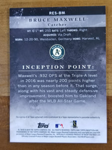 Bruce Maxwell - 2018 Topps Inception Auto Gold 44/50 - A's