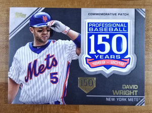 David Wright - 2019 Topps 150th Anniversary Patch 60/150 - Mets