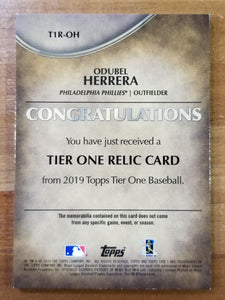 Odubel Herrera - 2019 Topps Tribute Relic #388/399 - Phillies