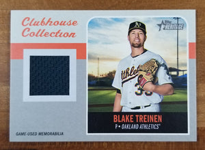 Blake Treinen - 2019 Heritage Clubhouse Collection Relic #CCR-BT - A's