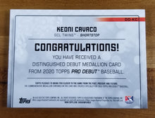 Load image into Gallery viewer, Keoni Cavaco - 2020 Pro Debut Distinguished Debut Medallion 23/99 - Twins