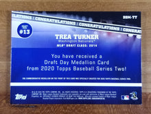 Load image into Gallery viewer, Trea Turner - 2020 Topps Draft Day Medallion DDM-TT - Nationals