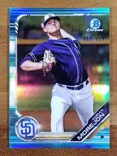 Load image into Gallery viewer, Adrian Morejon - 2019 Bowman Chrome Aqua Refractor 89/125 - Padres