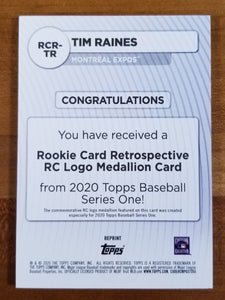 Tim Raines - 2020 Topps Rookie Card Retro Logo #RCR-TR - Expos