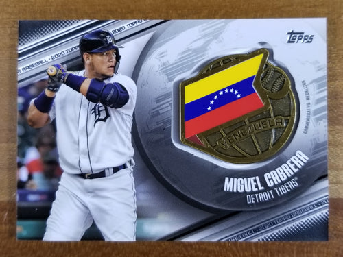 Miguel Cabrera - 2020 Topps Global Game Medallion 115/149 - Tigers